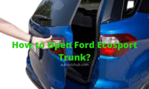 How to Open Ford Ecosport Trunk_