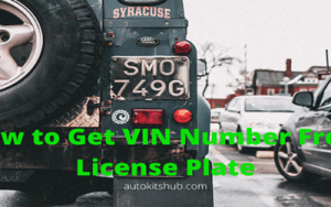 how to get VIN number from license plate