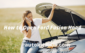 how to open ford fusion hood